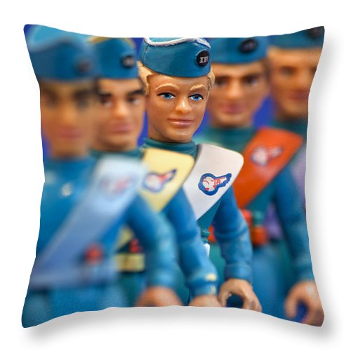 Thunderbirds Throw Pillow featuring the photograph The Tracy Brothers by David Lichtneker