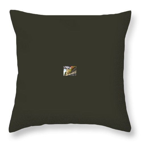 Walkway Over The Hudson Throw Pillow featuring the photograph The Trestle by Patricia McCoy