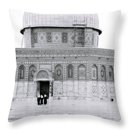 Jerusalem Throw Pillow featuring the photograph Dome Of The Rock by Shaun Higson