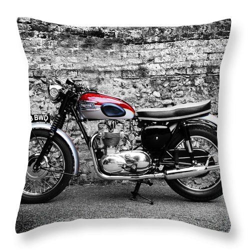 Triumph Trophy Throw Pillow featuring the photograph The Triumph Trophy by Mark Rogan