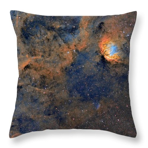 Astro Throw Pillow featuring the photograph The Tulip Nebula - Beauty In Space by Sara Wager