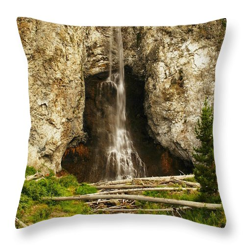 Waterfalls Throw Pillow featuring the photograph The Unknown Path by Jeff Swan