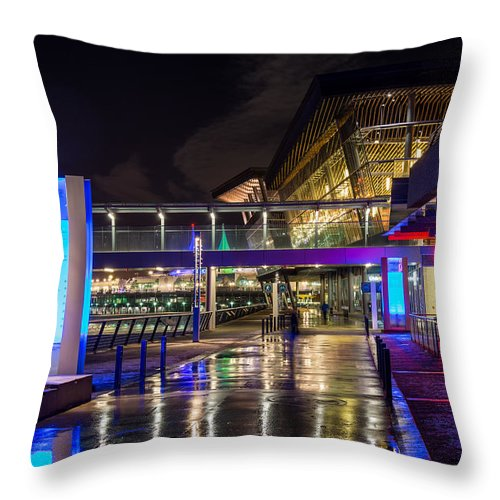 Vancouver Throw Pillow featuring the photograph The Vancouver Convention Centre by Sabine Edrissi