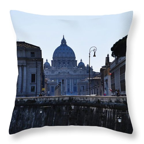 Vatican Throw Pillow featuring the photograph The Vatican by Richard Booth