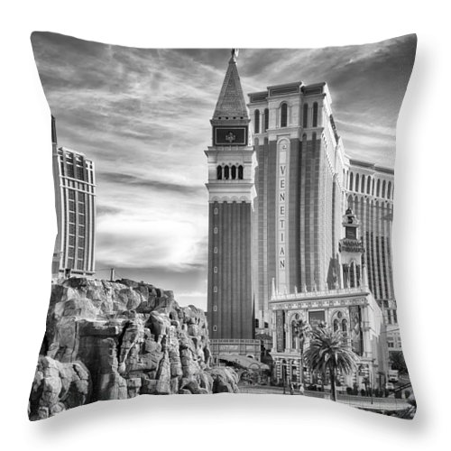 Nature Throw Pillow featuring the photograph The Venetian Resort Hotel Casino by Howard Salmon