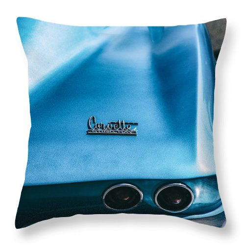Corvette Throw Pillow featuring the photograph The Vette by Karol Livote