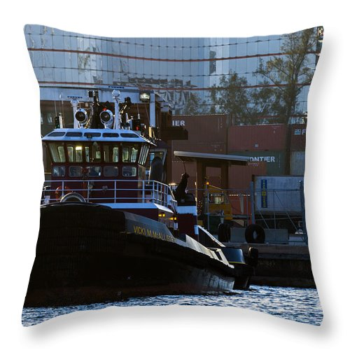 Bay Throw Pillow featuring the photograph The Vicki M. Mcallister by Ed Gleichman
