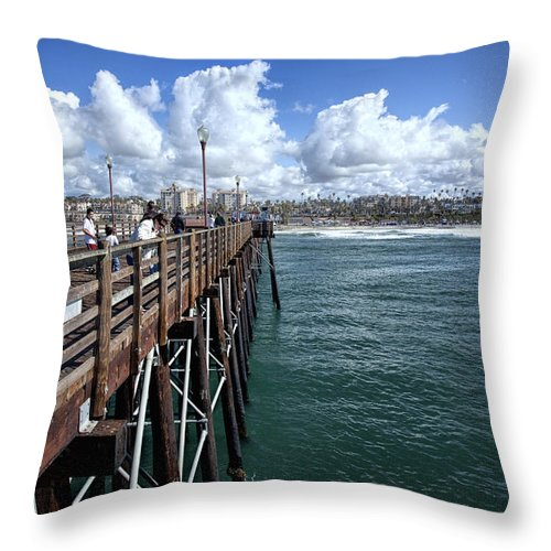 Carlsbad Throw Pillow featuring the photograph The View From Here by Diana Powell