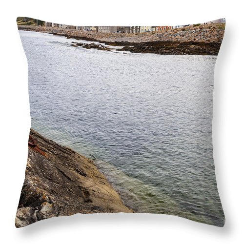 Portessie Throw Pillow featuring the photograph The Village Of Portessie by Diane Macdonald
