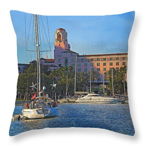 Vinoy Park Hotel Throw Pillow featuring the photograph The Vinoy Park Hotel by HH Photography of Florida
