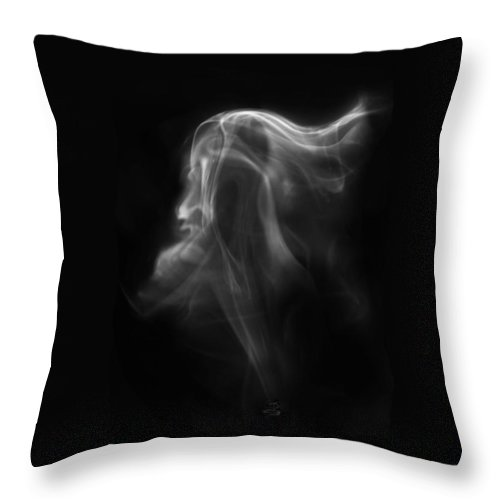 Unique Abstract Art Throw Pillow featuring the photograph The Vision by Steven Poulton