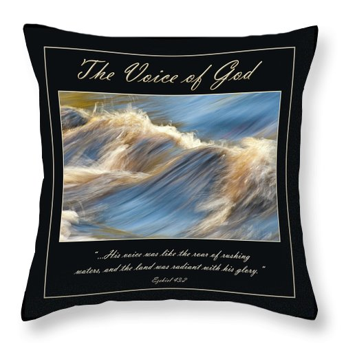 Water Throw Pillow featuring the photograph The Voice Of God by Carolyn Marshall