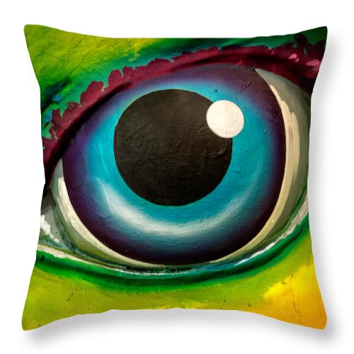 Eye Throw Pillow featuring the photograph The Watcher by David Kay