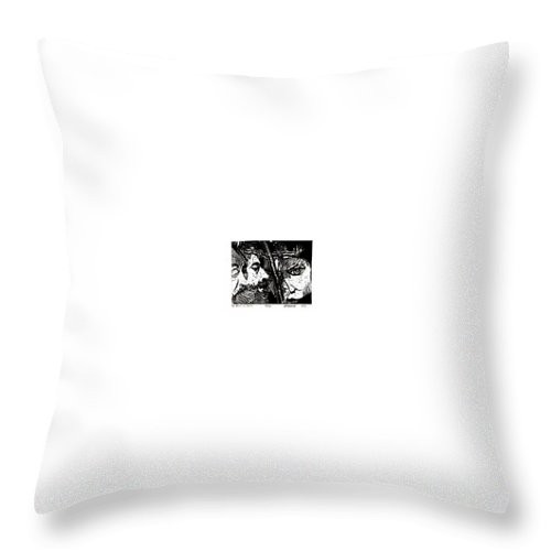 Spectators At The Crucifiction Of Jesus Christ Throw Pillow featuring the relief The Watchers Of Death by Seth Weaver