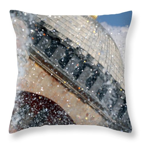 The Hagia Sophia Throw Pillow featuring the photograph The Water Droplets From The Fountain At The Hagia Sophia Turkey by Ronald Jansen