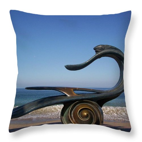 Jandrel Throw Pillow featuring the photograph The Water Is Fine by J Andrel