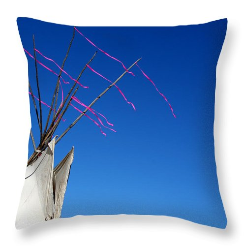 American Indian Throw Pillow featuring the photograph The Way The Wind Blows by Joe Kozlowski