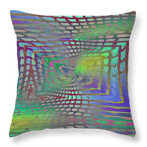 Web Throw Pillow featuring the digital art The Web Is Cast by Tim Allen