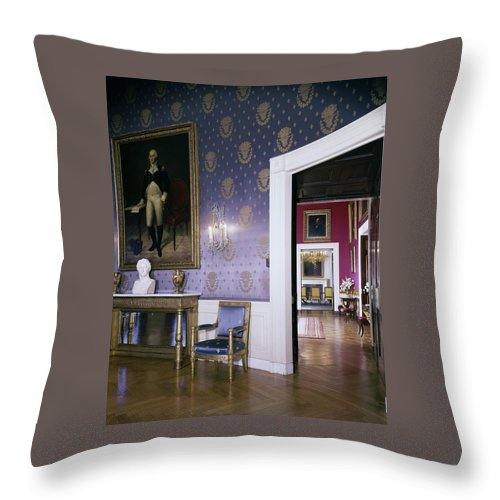 The White House Blue Room Throw Pillow