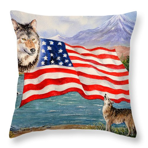 Andrew Read Throw Pillow featuring the painting The Wildlife Freedom Collection 1 by Andrew Read