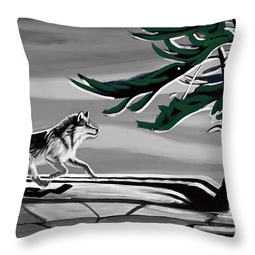 Wind Throw Pillow featuring the photograph The Wind by Munir Alawi
