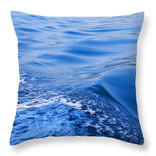 Corfu Throw Pillow featuring the photograph the Wine Dark Sea by Brenda Kean