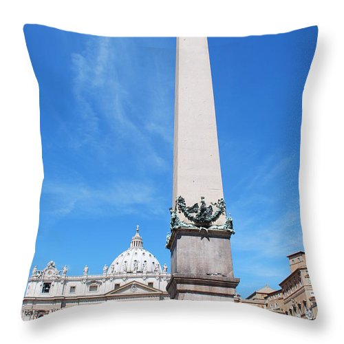 St. Peter Throw Pillow featuring the photograph The Witness by Richard Booth