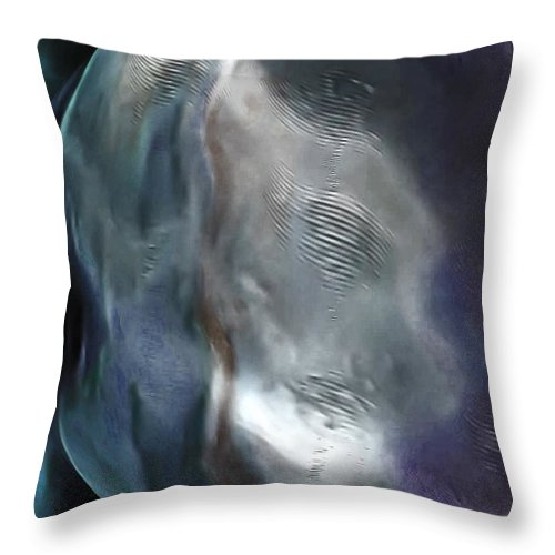 Moon Throw Pillow featuring the photograph The Woman In The Moon by Abbie Loyd Kern