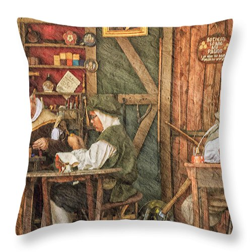 Renaissance Throw Pillow featuring the photograph The Workers by Camille Lopez