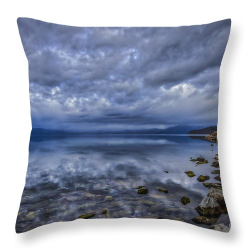 The World Beyond Ours Throw Pillow featuring the photograph The World Beyond Ours by Mitch Shindelbower