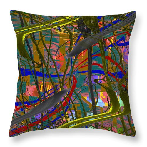 Graffiti Throw Pillow featuring the digital art The Writing On The Wall 23 by Tim Allen
