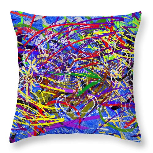 Abstract Throw Pillow featuring the digital art The Writing On The Wall 26 by Tim Allen