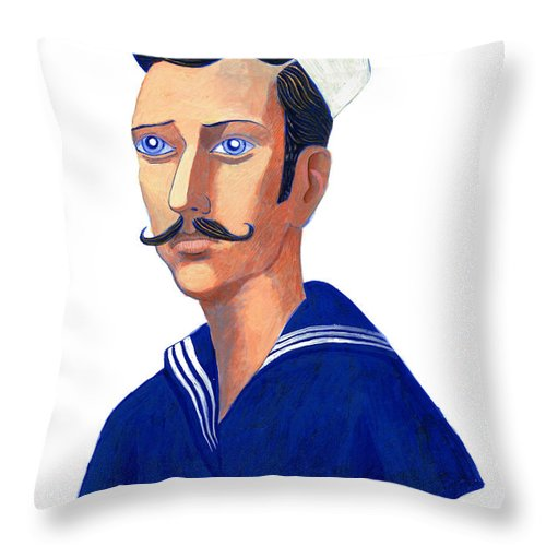 Sailor Throw Pillow featuring the painting The Young Sailor by Sean Molloy