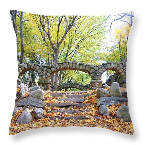 Nature Throw Pillow featuring the photograph Theatre Reception Area by Karen Silvestri