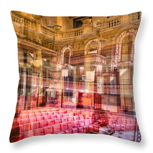 Kevin Eatinger Throw Pillow featuring the photograph Theatrical Arrangement 2 by Kevin Eatinger