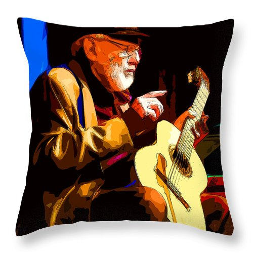 Theodore Bikel Throw Pillow featuring the photograph Theodore Bikel by C H Apperson