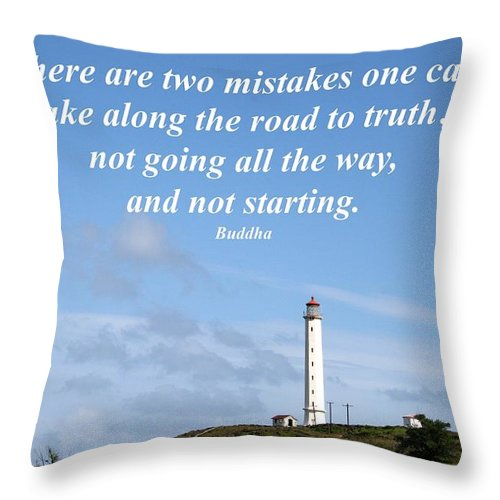 Molokai Throw Pillow featuring the photograph There Are Two Mistakes One Can Make by Pharaoh Martin