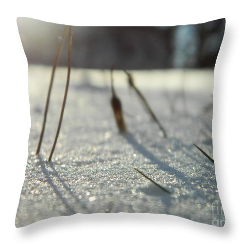 Abstract Throw Pillow featuring the photograph There Is Light by Andrea Anderegg