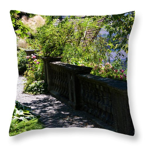 Rose Garden Throw Pillow featuring the photograph There Is Peace by Susanne Van Hulst
