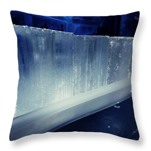 Lucinda Walter Throw Pillow featuring the photograph These Ice Glasses Are Ready by Lucinda Walter