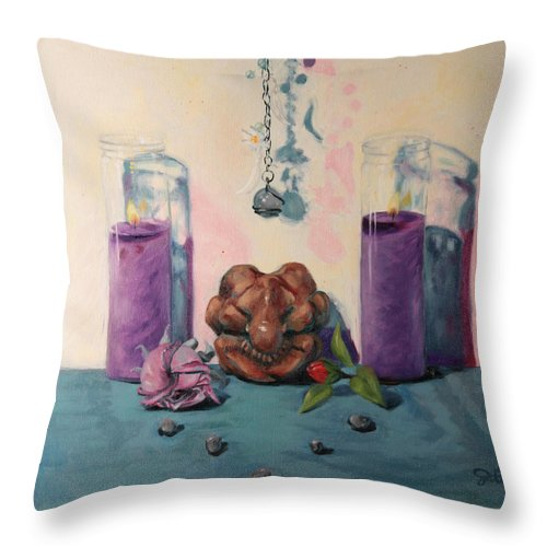 Mourning Throw Pillow featuring the painting They Are Gone We Are Here by Shelley Irish
