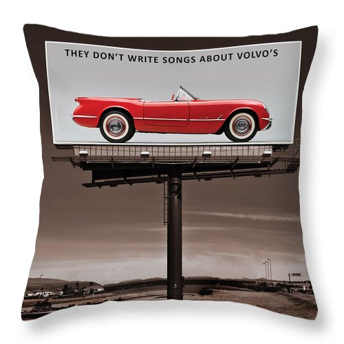 Corvette Throw Pillow featuring the photograph They Dont Write Songs by Mark Rogan