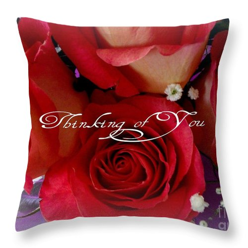 Love Throw Pillow featuring the photograph Thinking Of You by Gail Matthews