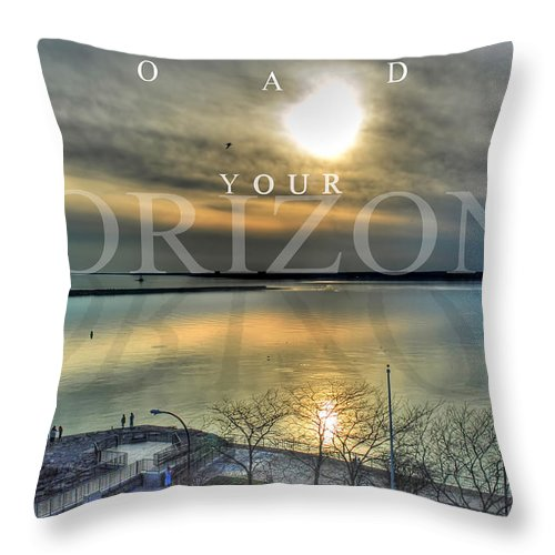 Optimism Throw Pillow featuring the photograph Thinking Outside The Box by Michael Frank Jr