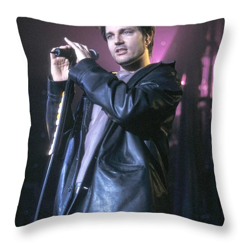 Pictures For Sale Throw Pillow featuring the photograph Third Eye Blind - Stephan Jenkins by Concert Photos