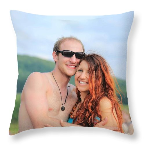 This Couple Rw2k14 Throw Pillow featuring the photograph This Couple Rw2k14 by PJQandFriends Photography