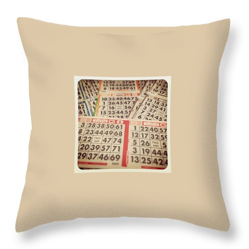 Bingo Throw Pillow featuring the photograph This Just Got Real by April Moen