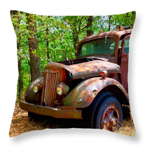 White Throw Pillow featuring the photograph This Ol' White Can't Stay In Sight 10-4 by Jim Finch