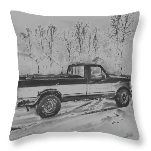 Ford Throw Pillow featuring the photograph This Old Ford by Thomas MacPherson Jr