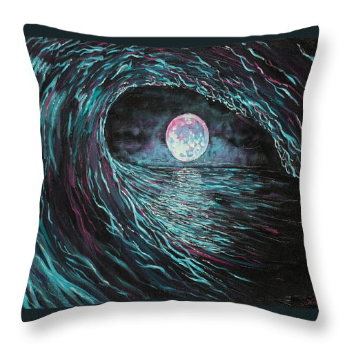 Ocean Throw Pillow featuring the painting This Time Imperfect by Joel Tesch